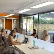 Co-working of flexwerken in het business centrum spanje